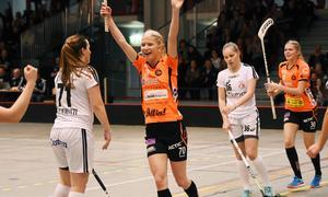 Jonna Sjöberg gjorde två mål för Rönnby Västerås.