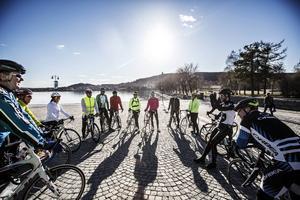 I måndags kväll var det närmare 20 cyklister som samlandes i Badhusparken för att lära sig cykla landsväg.
