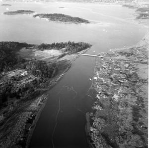 Björnön och Björnöbron på 60-talet.