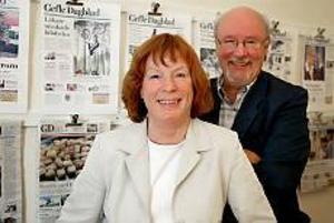 Christina Delby Vad-Schütt blir ny chefredaktör för Gefle Dagblad när Robert Rosen beslutat sig för att gå i förtidspension. Foto: TOBIAS IVARSSON