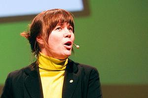 Miljöpartiets språkrör Åsa Romson talade på partiets kommun- och landstingsdagar i Västerås.