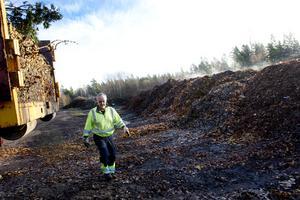 Hans-Olov Johansson har kört löv från Sandvik i Gimo till tippen i Kungsbäck i Gävle.