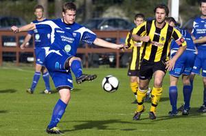 Robin Modd gjorde Rengsjös 2–0-mål mot Korsnäs.