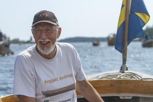 Lasse Heinemann, ledare av studiecirkeln som renoverat båten Andros.