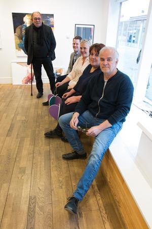 Arrangörskvartetten bakom nya satsningen Konstrundan i Väsetrås city består av Johnny Molton, Västerås konsthall, Erik Jersenius, VLT, Maria Fors, Västerås Citysamverkan och Björn Owe Andersson, Västerås konsthall.