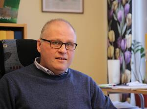 Kenneth Näsman konstaterar att intresset för gratis grönfoder från kommunens marker visade sig vara noll.Foto: Erik Åmell