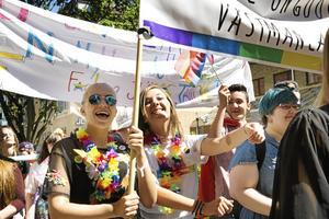 Glada firare Pride 2017. Foto: Margareta Andersson