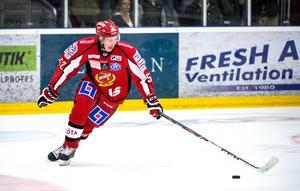 Erik de la Rose i Almtuna säsongen 2013/2014, senast han spelade i Sverige. Foto: MARCUS ERICSSON / BILDBYRÅN