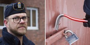 Kommunpolis Thomas Nordström berättar att det skett ett ökat antal villainbrott i Hedemora den senaste tiden och att intresset är stort för att starta grannsamverkan.