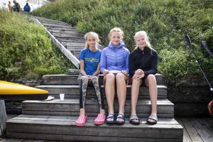 Ester Falk, 11, Yrla Abrahamsson, 14 och Sofia Rosdahl, 14.