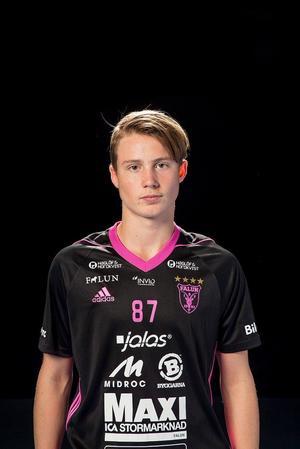 16–årige Emil Kanlentun gör SSL–debut mot Sirus.Foto: IBF Falun