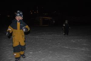 Pasqual Brandén kanske inte tittade så mycket på tv-skärmen, men han uppskattade att leka i snön med kompisarna desto mer.