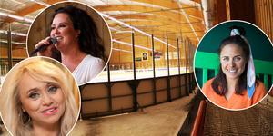 Artister och idrottsprofiler sluter upp under välgörenhetsmatch i Alfta – för att hylla den brandskadade sexbarnsmamman.