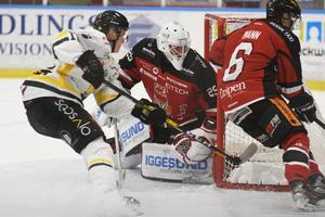Östersund fick hål på Andreas Bosson i Hudiksvallsmålet tre gånger – men det räckte inte den här kvällen.