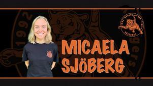Micaela Sjöberg är tillbaka i Rönnby. Foto: Rönnby Tigers