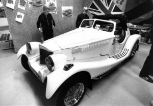 En Madison-byggsats på en bottenplatta från VW beundrades på utställningen 1983 av Niklas och Jörgen Eriksson från Hoting.