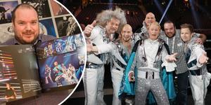 Det är nu nittonde året som Mattias Hansson fotar under Melodifestivalen. Till höger ses han tillsammans med