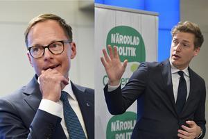 Mats Persson (L) och Emil Källström (C). Foto TT.