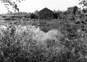 Sista bilden på sågverket innan det revs 1987. Foto:Hembygdsföreningen