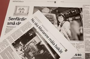Artiklar från november 2010 när Marianne Bos Mareng fyllde 80 år och från mars 2012 när hon gav ut en bok.