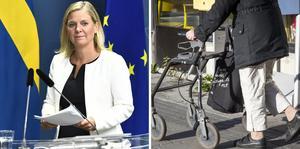 Finansminister Magdalena Andersson (S) höll pressträff. Foto: Claudio Bresciani/TT, Helena Landstedt/TT.