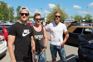 Pontus Bromark, Jonas Isaksson och Jocke Lönnövik, från Tierp, har varit på träffen tidigare.