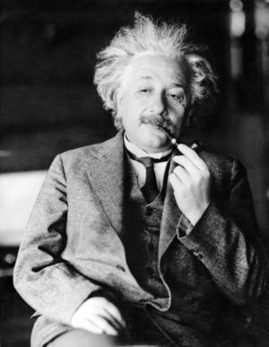 Den legendariske Albert Einstein, en av våra största vetenskapsmän.  Foto: TT