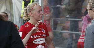 Segerskytten Eveliina Summanen var trött men väldigt nöjd med sitt första mål för Kif Örebro i damallsvenskan. Inte konstigt alls, det var ett riktigt vackert mål och det gav tre poäng.