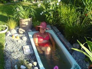 Badkaret utnyttjas ofta under sommaren. Foto: Privat