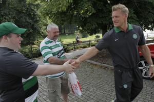 Han är populär bland Celtic-fansen. Bild: Björn Olsson/Scanpix.