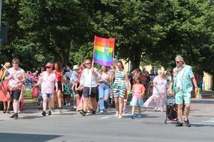 Pridetåg i Tidaholm.