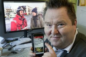 Läsarna som har Skövde Nyheters app kunde följa brandens utveckling och händelser som rörde branden på ett smidigt och överskådligt sätt i SN:s app, säger nyhetschef Börje Andersson.