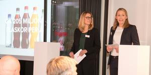 Barbara Tönz, vd Coca-Cola AB, och Sofie Eliasson Morsink som är vd på Coca-Cola European Partners Sverige AB