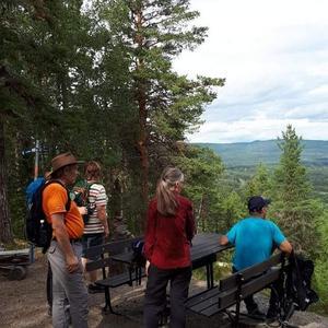 Vandrare som beundrar utsikten från Österåsen  Foto: Margaret Lundvang Danielsson