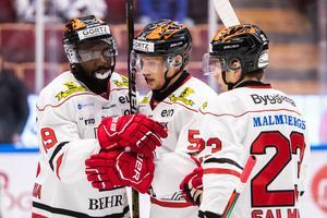 Örebro är tabelltrea i SHL efter segern mot Leksand. Bild: Daniel Eriksson/Bildbyrån