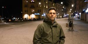Samir Abu Eid på Järnagatan.