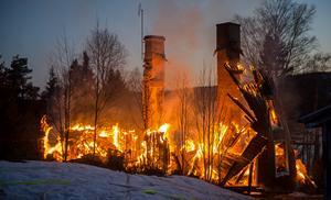 Branden fick ett mycket snabbt förlopp.