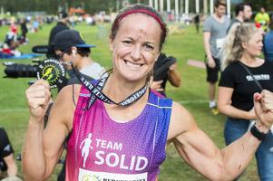 Madeleine Larsson ångrade inte att hon rest från Stockholm för att delta i tävlingen i Bergeforsen. VM-medaljören hyllade banan.