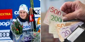 Ebba Andersson har haft en lyckad säsongsinledning, och får en hel del pengar in på kontot. Bilden är ett montage.