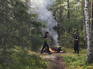 Mopedbrand på Malmaberg.