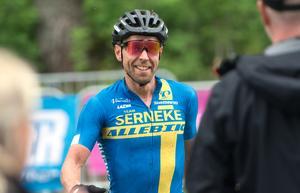Emil Lindgren är svensk mästare i cykelcross för andra gången.