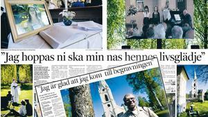 DT den 12 maj 2008. Utöver de 280 som tog farväl av Engla under begravningsgudstjänsten i Stjärnsunds kyrka följde ett drygt hundratal personer begravningen på storbild utanför. Begravningen, som direktsändes av SVT, var inte den första att tv-sändas i Sverige, men enligt Svenska kyrkan rönte den det dittills största massmediala intresset.
