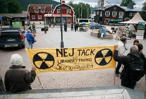 Demonstration mot uranbrytning i Åre 2009.