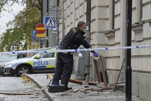 En explosion inträffade på  Södermalm. Foto: Janerik Henriksson / TT