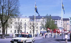 Demonstration 1:a maj 1980. Storbron i Örebro. Fotograf: Hans Andersson