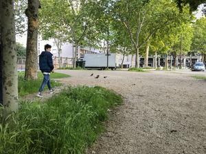 Afghansk flykting som lämnat Sverige för Frankrike.