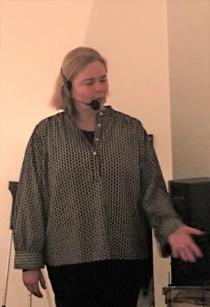 Det viktigaste är inte fantasifulla skapelser, utan att gästen tycker om maten, oavsett om det är Nobelmiddag eller Albertina som gäller betonade Malin Söderström när hon gästade Berga Brystuga.