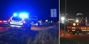 Två bilar var inblandade i olycka vid infarten till Idbyn.