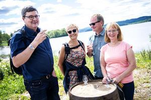 Anders Sjölinder, Åsa Englund, Ola Löfgren och Karin Sjölinder tog Box-bussen från Sundsvall för att spendera en heldag på festivalen.