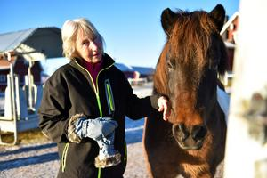 Ulla berättar att hästarna här ute på gården motiverade henne i att bli frisk så snart som möjligt.